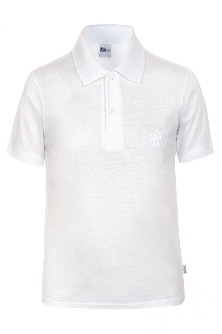 Джемпер-поло для мальчика белого цвета