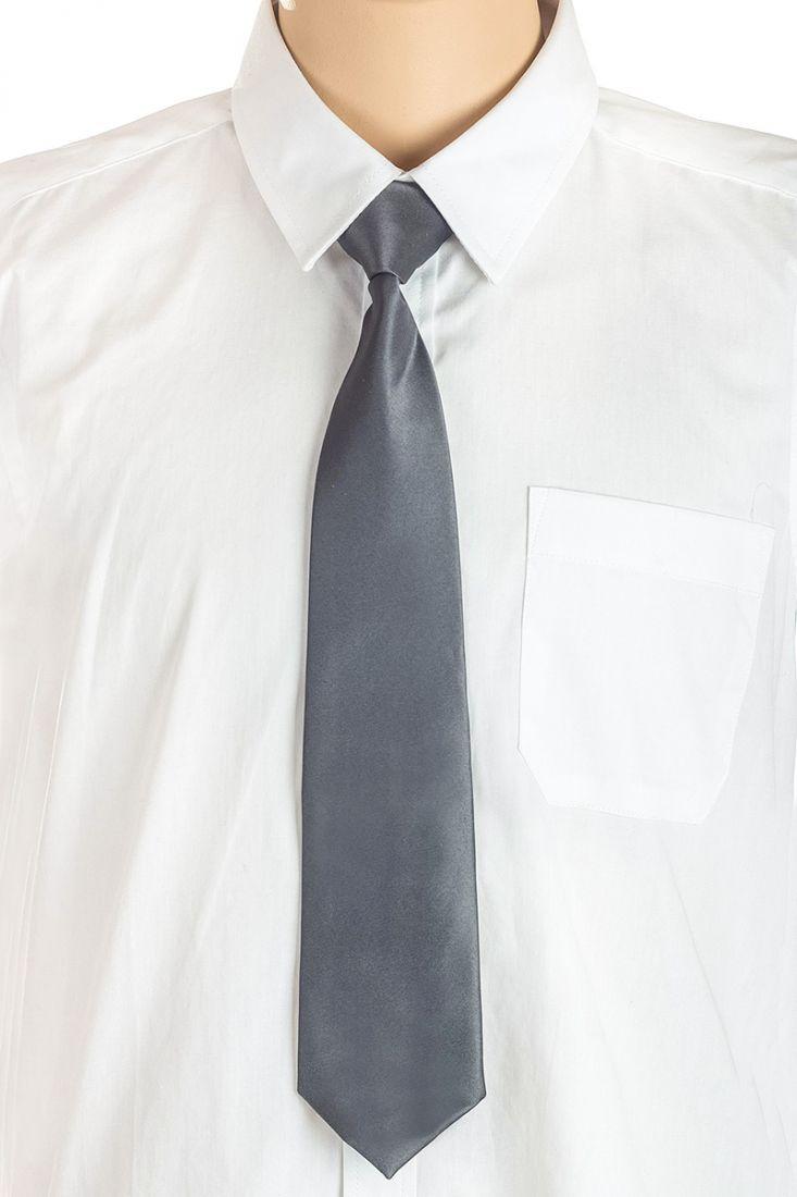 Темно-серый галстук для мальчика
