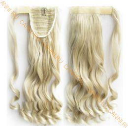 Искусственные термостойкие волосы - хвост волнистые №М24/613 (55 см) -  90 гр.