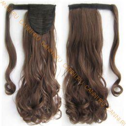 Искусственные термостойкие волосы - хвост волнистые №008 (55 см) -  90 гр.