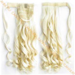 Искусственные термостойкие волосы - хвост волнистые №613 (55 см) -  90 гр.