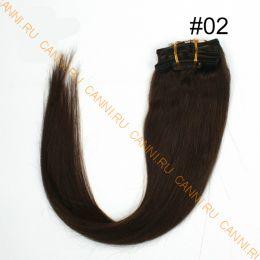 Натуральные волосы на заколках №002 (45 см) - 7 заколок