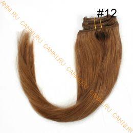 Натуральные волосы на заколках №012 (55 см) - 7 заколок