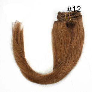 Натуральные волосы на заколках №012 (40 см) - 7 заколок