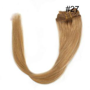 Натуральные волосы на заколках №027 (40 см) - 7 заколок