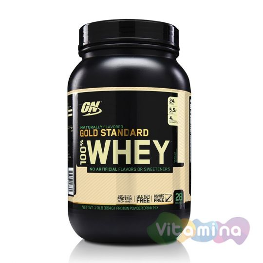 Optimum Nutrition 100% Natural Whey Gold Standard Gluten Free 1,9 lb (0,9 кг)