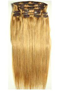 Натуральные волосы на заколках №016 (45 см) - 7 заколок