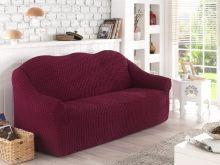 Чехол для двухместного дивана (бордовый) Арт.2651-2