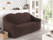 Чехол для двухместного дивана (коричневый) Арт.2651-3