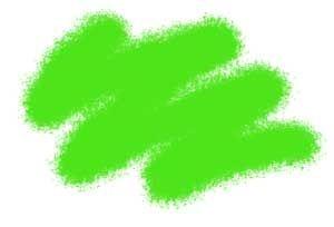 Краска яркозеленая