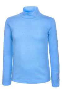 Голубая водолазка для девочки с вышивкой Турция