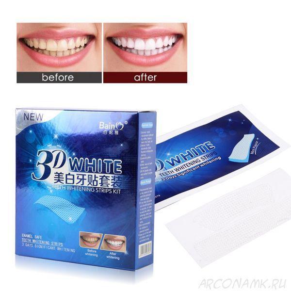 Отбеливающие полоски для зубов 3D White teeth whitening strips