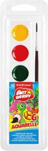 Краски акварельные Artberry  (6 цветов с кистью)