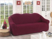 Чехол для трехместного дивана (бордовый)  Арт.2652-2