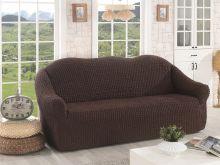 """Чехол для трехместного дивана без юбки """"KARNA""""  (коричневый)  Арт.2652-3"""