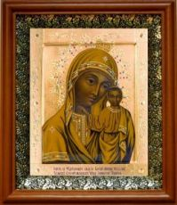 Табынская икона БМ (19х22), светлый киот