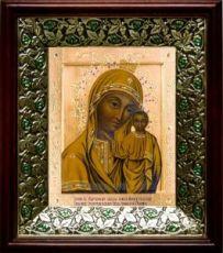 Табынская икона БМ (21х24), киот со стразами