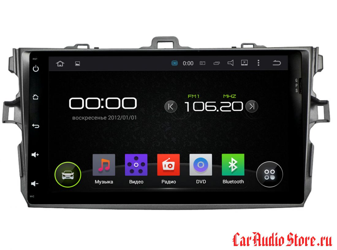 INCAR AHR-2234 Toyota Corolla 2006-2011 Android 5.1/1024*600,wi-fi, 8""