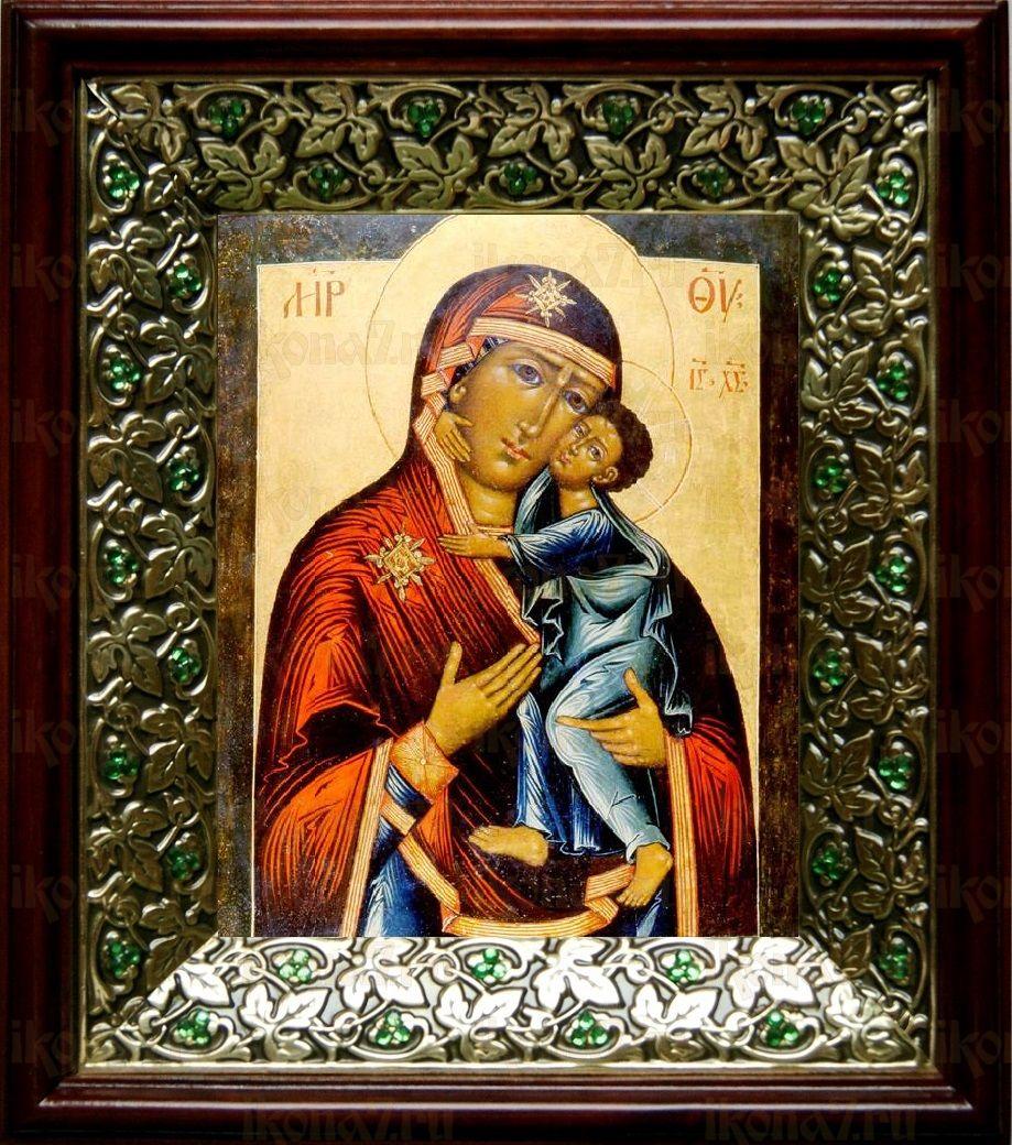 Толгская икона БМ (21х24), киот со стразами