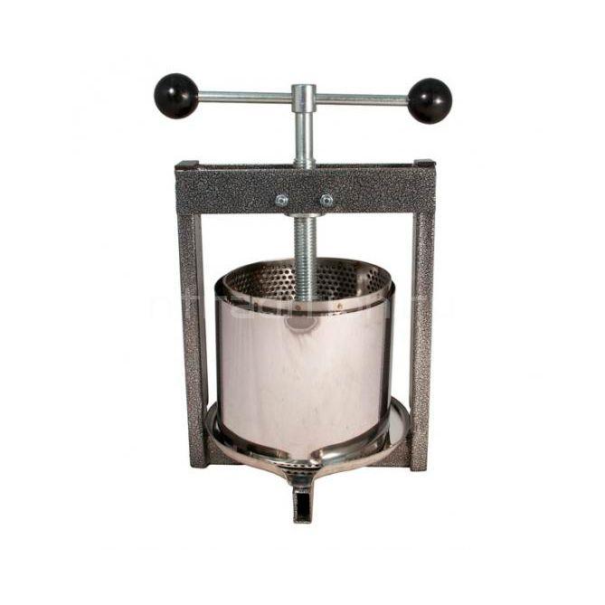 Винтовой пресс для отжима сока с кожухом (нерж.) 12 литров