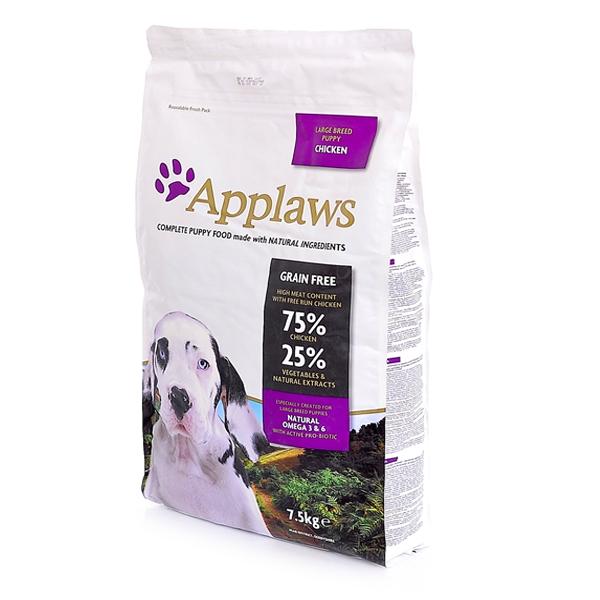 Корм сухой Applaws беззерновой для щенков крупных пород с курицей и овощами 7.5кг
