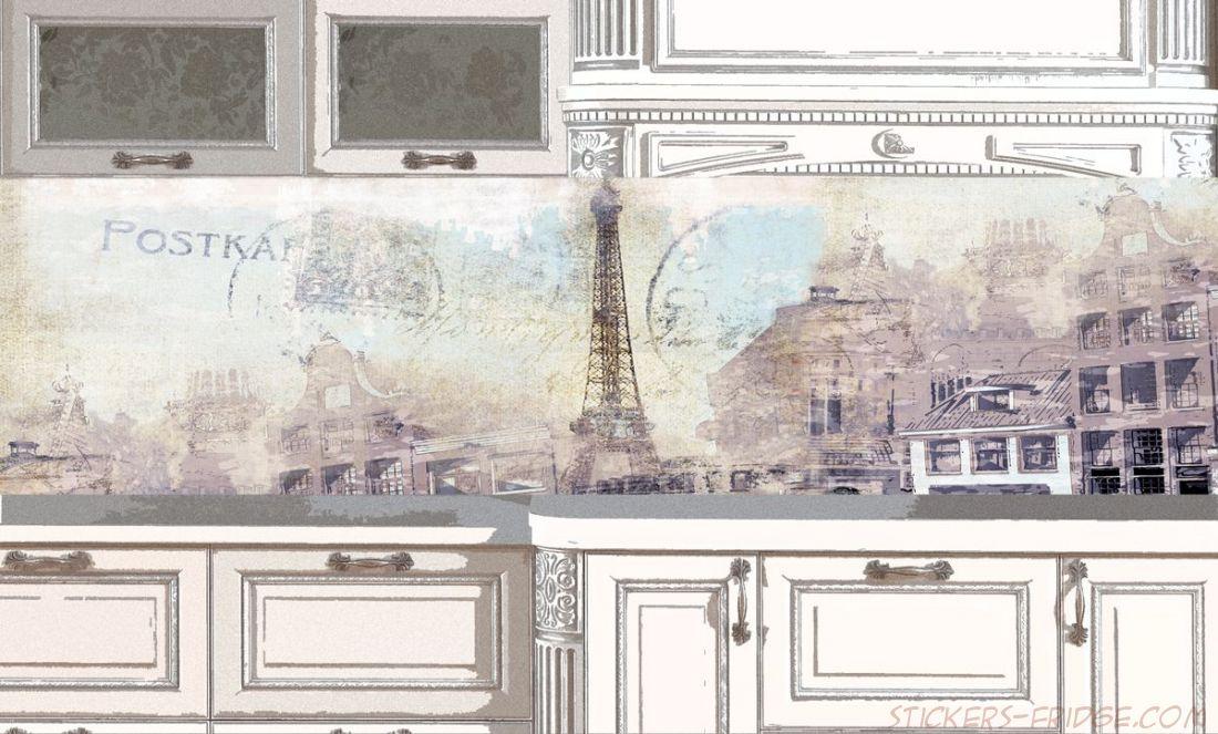 Фартук для кухни - Ретро открытка