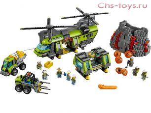 Конструктор Lari Город Тяжелый транспортный вертолет Вулкан 10642 (60125) 1325 дет