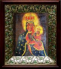 Тывровская икона БМ (21х24), киот со стразами