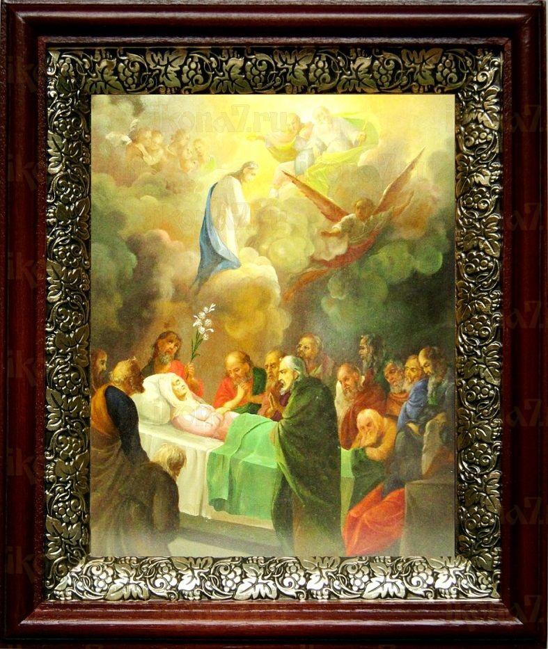 Успение Пресвятой Богородицы (19х22), темный киот