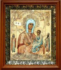 Хлебная икона БМ (19х22), светлый киот
