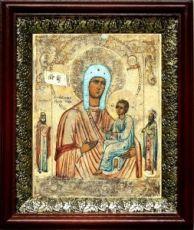 Хлебная икона БМ (19х22), темный киот