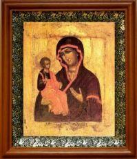 Цареградская икона Божьей Матери (19х22), светлый киот