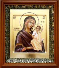 Чирская (Псковская) икона БМ (19х22), светлый киот