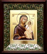 Чирская (Псковская) икона БМ (21х24), киот со стразами
