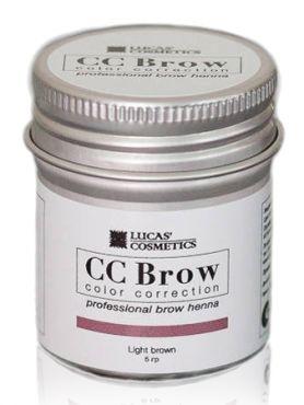 CC Brow Light Brown Хна для бровей СС в баночке светло-коричневая