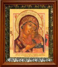 Чухломская (Галичская) икона БМ (19х22), светлый киот