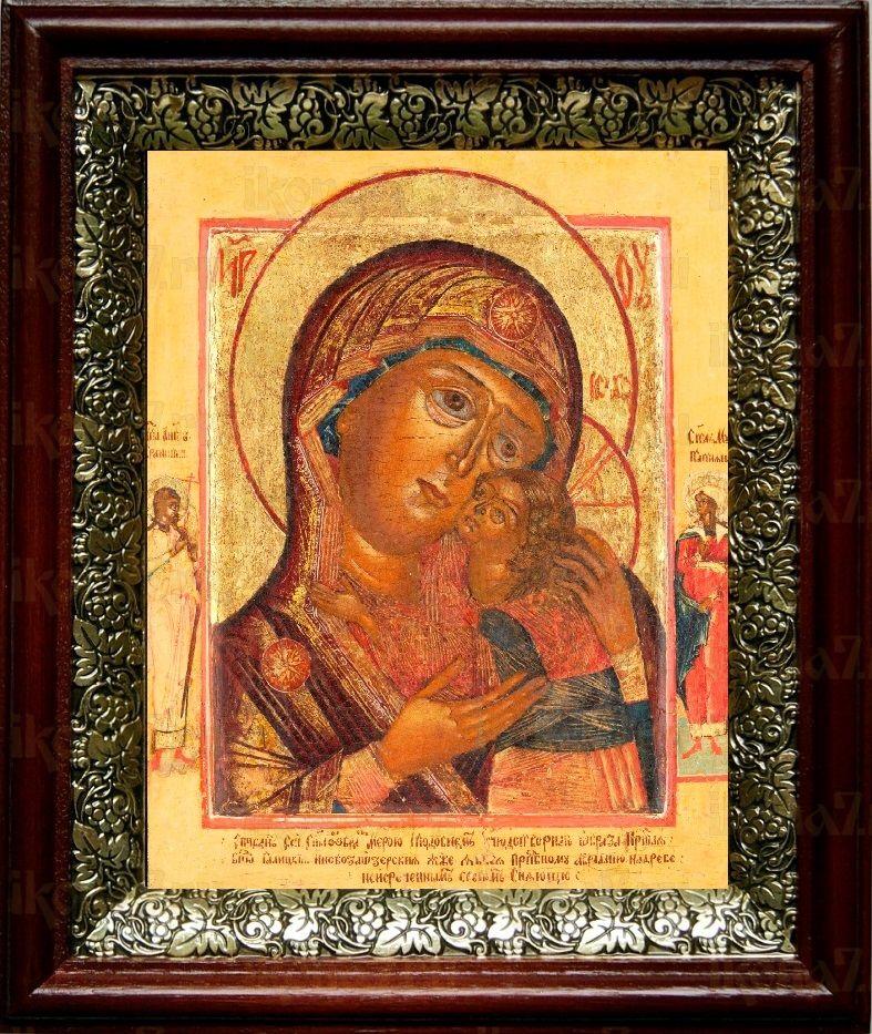 Чухломская (Галичская) икона БМ (19х22), темный киот