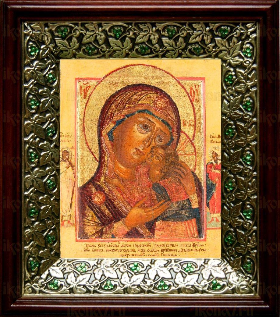 Чухломская (Галичская) икона БМ (21х24), киот со стразами