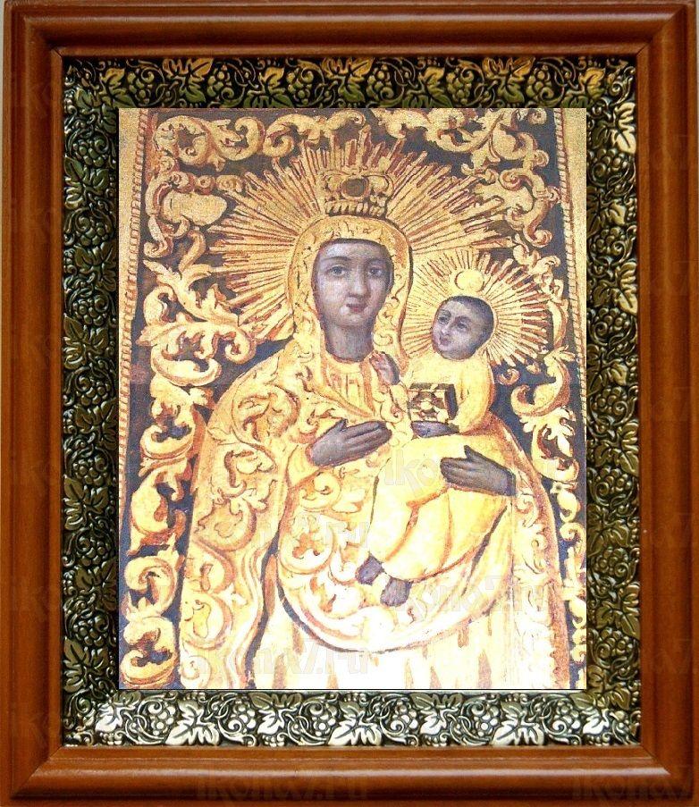 Якобштадтская икона БМ (19х22), светлый киот