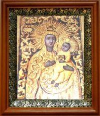 Якобштадтская икона Божьей Матери (19х22), светлый киот