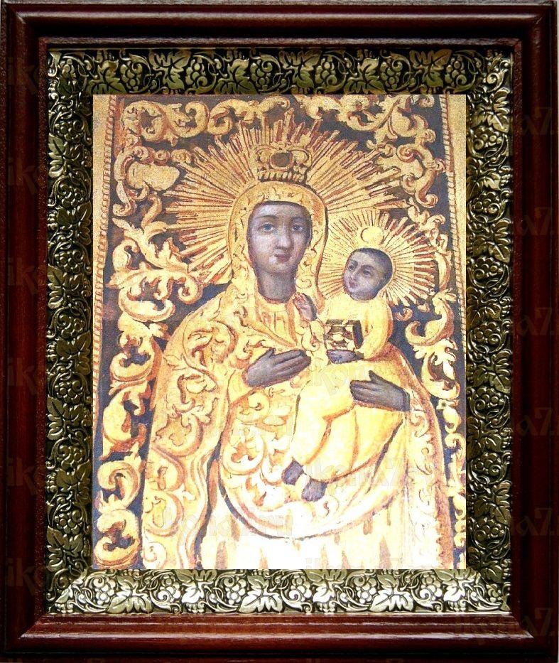 Якобштадтская икона БМ (19х22), темный киот