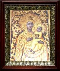 Якобштадтская икона Божьей Матери (19х22), темный киот