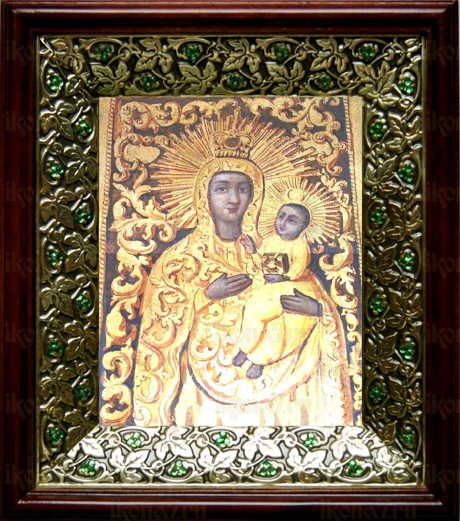 Якобштадтская икона Божьей Матери (21х24), киот со стразами