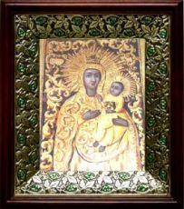 Якобштадтская икона БМ (21х24), киот со стразами