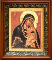 Ярославская икона БМ (19х22), светлый киот