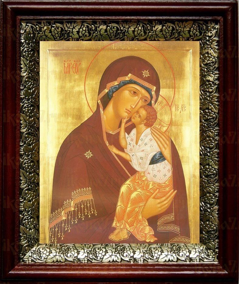 Ярославская икона БМ (19х22), темный киот