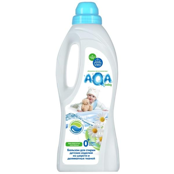 AQA baby Бальзам для стирки детских изделий из шерсти и деликатных тканей 1000 мл.