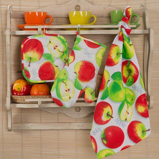 """Набор для кухни 3 предмета """"Яблочное угощение"""""""