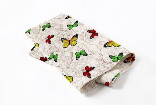 """Набор из 2-х кухонных полотенец """"Бабочки"""""""