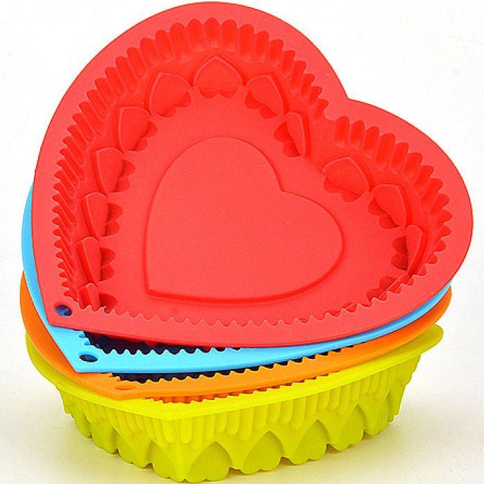 Силиконовая форма для выпечки Сердце